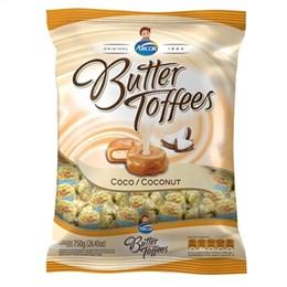 Bala Arcor Butter Toffees Coco (Emb. contém 1un. de 600g)