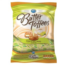 Bala Arcor Butter Toffees Limão (Emb. contém 1un. de 600g)