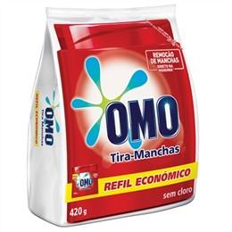 Alvejante sem Cloro em Pó Omo Tira Manchas Refil Roupas Color (Emb. contém 1un. de 420g)