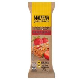 Barra de cereal tradicional maizena 20g morango