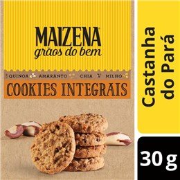 Biscoito cookie integral maizena 30g castanha do para
