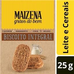 Biscoito integral maizena 25g leite e cereais