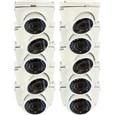 Kit com 10 Câmeras Dome Turbo HD Hikvision Modelo 2CE56C2T-IRM