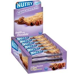 Barra de Cereais Nutry Avelã, Chocolate (Emb. contém 24un. de 22g cada)