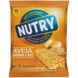 Barra de Cereais Nutry Aveia, Banana e Mel (Emb. contém 3un. de 22g cada)