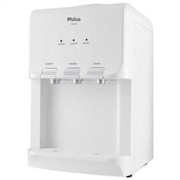 Bebedouro Mesa Philco PBE03BCQF com Compressor Água Fria Quente Gelada Branco 220V (Emb. contém 1un.)