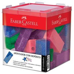 Apontador Faber Castell com Depósito Neon Glitz Sortido (Emb. contém 25un.)