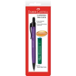 Lapiseira Faber Castell Tri Click 0,7mm SM Grátis 1 Tubo de Grafite (Emb. contém 24un.)