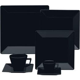 Aparelho de Jantar/Cha/Café Oxford Quartier Black GM42-2006 (Emb. contém 42 Peças)