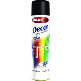 Tinta Spray Colorgin Decor 8701 Preto Brilhante (Emb. contém 1un. de 360ml)