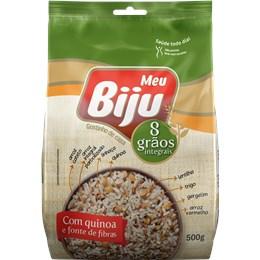 8 Grãos Integrais com Quinoa Meu Biju 500g - Caixa com 24 unidades de 500g