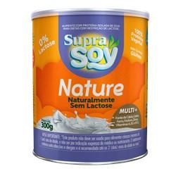 Alimento em Pó SupraSoy Nature Naturalmente Sem Lactose 300g - Caixa com 12 unidades de 300g