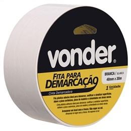 Fita Adesiva para Demarcação Vonder 48mm x 30m Preta (Emb. contém 1un.)