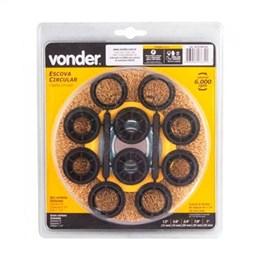 Escova Circular Vonder 3/4 com Bucha de Redução (Emb. contém 1un.)