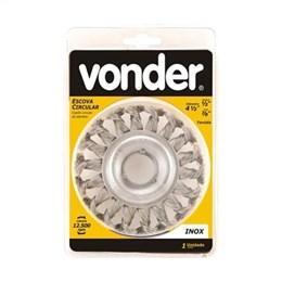 """Escova Circular Torcida 4.1/2"""" Furo 7/8"""" Vonder (Emb. contém 1un.)"""