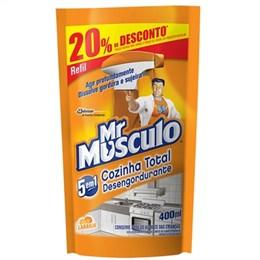 Desengordurante Mr. Músculo Cozinha Refil Sachê 20% Desconto (Emb. contém 1un. de 400ml)