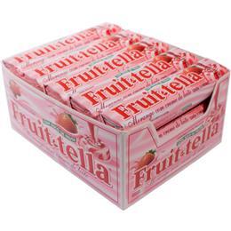 Bala Fruitella Dura Morango com Creme Leite (Emb. contém 15un.)