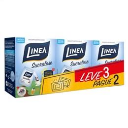 Adoçante Linea Sucralose Pó Sachê Leve 3 e Pague 2 Pack Promocional (Emb. contém 3 Pacotes com 50un. de 800mg cada)