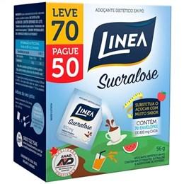 Adoçante Linea Sucralose Pó Leve 70 e Pague 50 OF Pack Promocional (Emb. 70un. de 8g de cada)