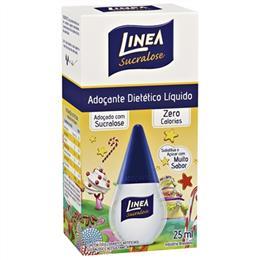 Adocante Linea Sucralose Líquido (Emb. contém 6un. de 25ml de cada)