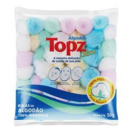 Algodão Farmacêutico Topz Bola Color (Emb. contém 1un. de 50g)