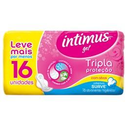 Absorvente com abas intimus gel c/16 tri protect suave