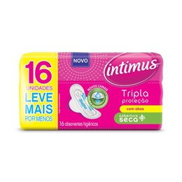 Absorvente com abas intimus gel c/16 tri protect seca