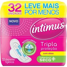 Absorvente Intimus Gel Tripla Proteção Seca com Abas (Emb. contém 32un.)