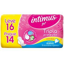 Absorvente Intimus Tripla Proteção Suave com Abas Leve 16 Pague 14 Pack Promocional (Emb. contém 16un.)