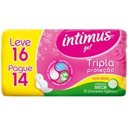 Absorvente Intimus Tripla Proteção Seca com Abas Leve 16 Pague 14 Pack Promocional (Emb. contém 16un.)