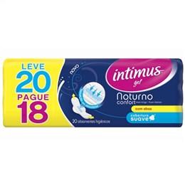 Absorvente Intimus Noturno Cobertura Suave com Abas Leve 20 Pague 18 Pack Promocional (Emb. contém 20un.)