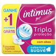 Absorvente Intimus Tripla Proteção Suave com Abas + 1 Grátis Pack Promocional (Emb. contém 8un.)