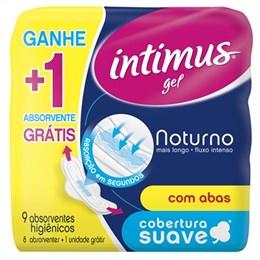 Absorvente Intimus Noturno Suave com Abas + 1 Grátis Pack Promocional (Emb. Contém 8un.)