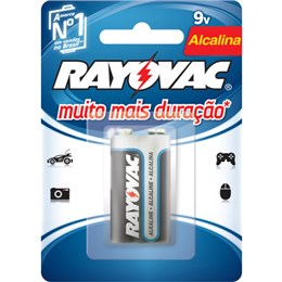 Bateria Rayovac Alcalina 20984, 9V (Emb. contém 1 Cartela com 1un.)