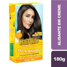 Alisante em Creme Hair Life Mel e Amêndoas (Emb. contém 1un. de 180g)