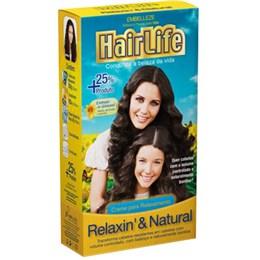 Alisante em Creme Hair Life Relaxin & Natural (Emb. contém 1un. de 160g)