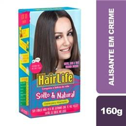 Alisante em Creme Hair Life Solto & Natural Pouch (Emb. contém 1un. de 160g)