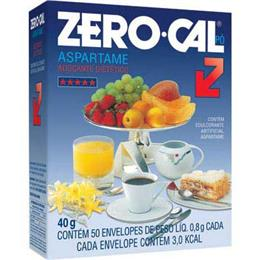 Adoçante Zero-Cal Aspartame Pó Sachê (Emb. contém 50un. de 800mg cada)