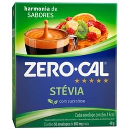 Adoçante Zero-Cal Stevia Pó Sache (Emb. contém 50un. de 800mg cada)