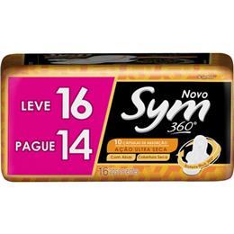 Absorvente Sym Cobertura Seca com Abas Leve 16 Pague 14 Pack Promocional (Emb. contém 16un.)