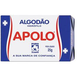 Algodão Apolo Hidrófilo (Emb. contém 40un. de 25g cada)