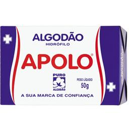 Algodão Apolo Hidrófilo (Emb. contém 20un. de 50g cada)