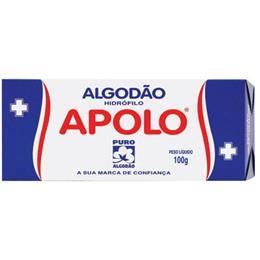 Algodão Apolo Hidrófilo (Emb. contém 10un. de 100g cada)