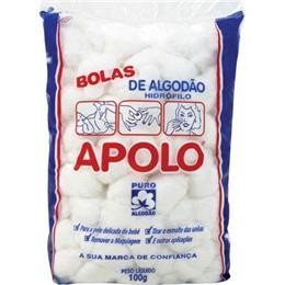 Algodão Apolo Bola (Emb. contém 10 Pacotes de 100g cada)