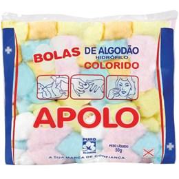 Algodão Apolo Bolas Colorido (Emb. contém 20 Pacotes de 50g cada)