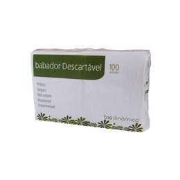 Babador Descartável Com 100 Branco - Biodinâmica