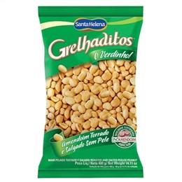 Amendoim Grelhaditos Santa Helena Torrado sem Pele (Emb. contém 1un. de 400g)