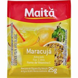 Refresco em Pó Adoçado Maitá Maracujá (Emb. contém 15un. de 25g cada)
