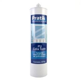 Adesivo Pu Pratik Cola Tudo Branco (Emb. contém 1un. de 400g)