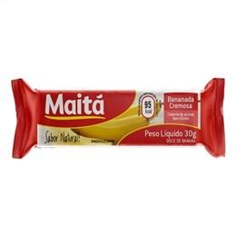 Bananada Maita Cremosa com Acúçar (Emb. contém 12un. de 30g cada)